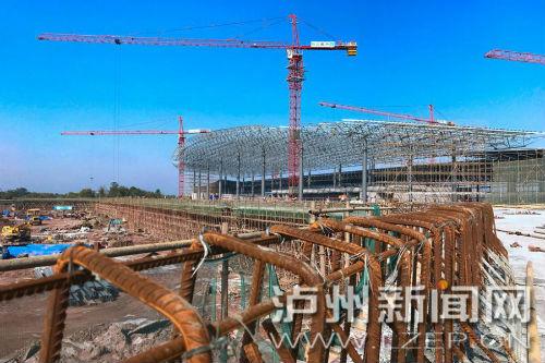 州雲龍機場正全速推進建設,确保7月1日前投入運行。 泸州日報記者 牟科 攝3